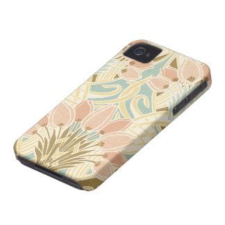 pretty tulips art nouveau floral pattern iPhone 4 Case-Mate cases
