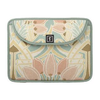 pretty tulips art nouveau floral pattern MacBook pro sleeves