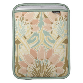 pretty tulips art nouveau floral pattern sleeve for iPads