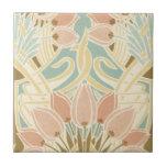 pretty tulips art nouveau floral pattern ceramic tiles