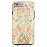 pretty tulips art nouveau floral pattern tough iPhone 6 case