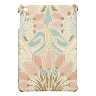 pretty tulips art nouveau floral pern iPad mini cases