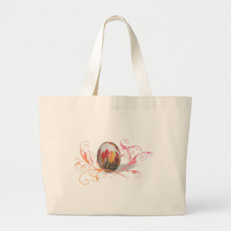 Pretty Tulips Easter Egg Canvas Bags