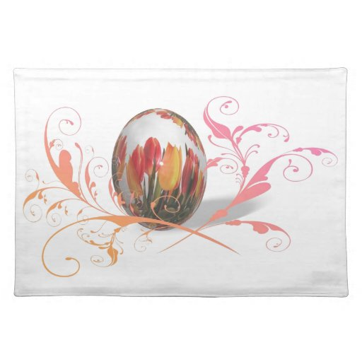 Pretty Tulips Easter Egg Placemat