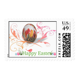 Pretty Tulips Easter Egg Stamps