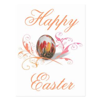 Pretty Tulips Easter Egg Postcard