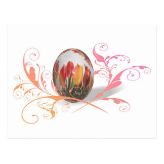 Pretty Tulips Easter Egg Postcards