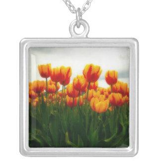 Pretty Tulips in Flower Field Necklaces