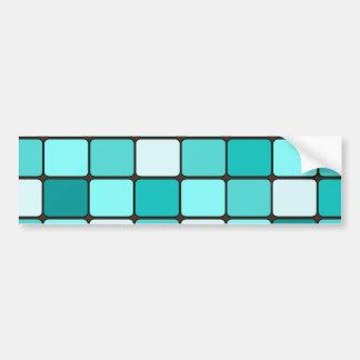 Pretty Turquoise Aqua Teal Mosaic Tile Pattern Bumper Sticker