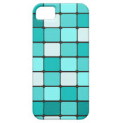 Pretty Turquoise Aqua Teal Mosaic Tile Pattern iPhone 5 Case