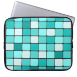 Pretty Turquoise Aqua Teal Mosaic Tile Pattern Laptop Sleeves