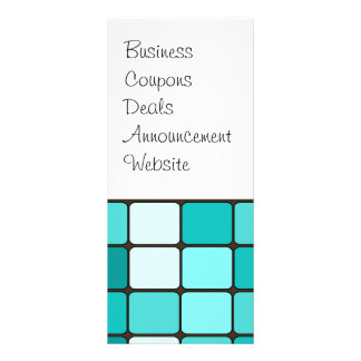 Pretty Turquoise Aqua Teal Mosaic Tile Pattern Rack Card