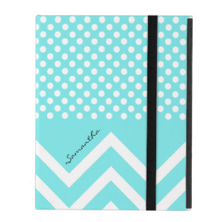 Pretty Turquoise Blue Patterns Custom iPad Case