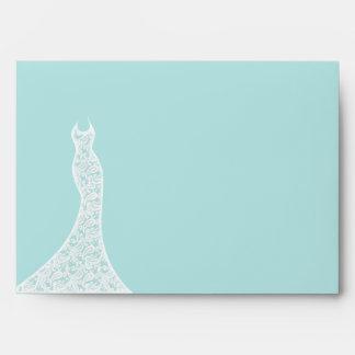 Pretty Turquoise Bridal Shower Envelope
