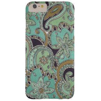 Pretty Turquoise Chic Retro Paisley Floral Pattern Barely There iPhone 6 Plus Case