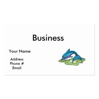 pretty turquoise dolphin design business card template