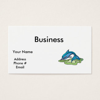 pretty turquoise dolphin design business card