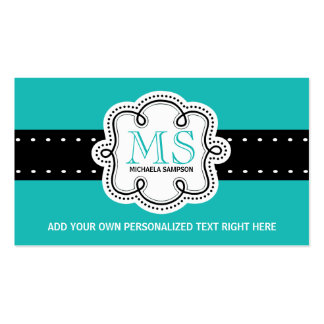 Pretty Turquoise Solid Color Girl Calling Card Business Card