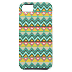 Pretty Turquoise Yellow Pink Native American Print iPhone 5 Cases