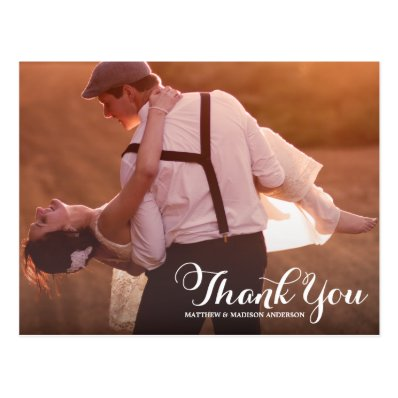 PRETTY  TYPE | WEDDING THANK YOU POST CARD