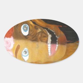 Pretty Ugly Oval Sticker