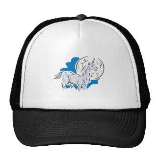 pretty unicorn and full moon mesh hats