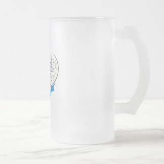 pretty unicorn and full moon 16 oz frosted glass beer mug
