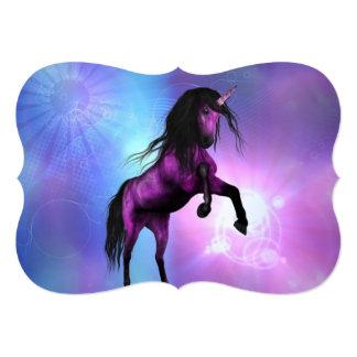 Pretty Unicorn Personalized Invite