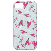 Pretty Valentine's Day Love Hearts Blue and Pink iPhone 5 Cases
