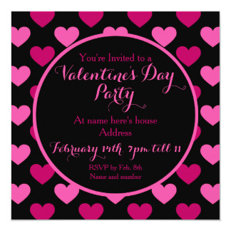 Pretty Valentines Party Card