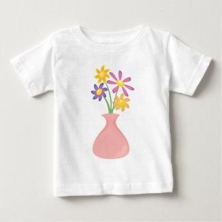 Pretty Vase of Flowers Baby T-Shirt