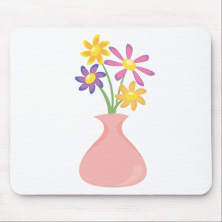 Pretty Vase of Flowers Mouse Pad
