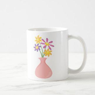 Pretty Vase of Flowers Classic White Coffee Mug