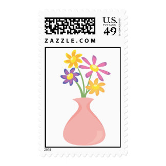 Pretty Vase of Flowers Stamps