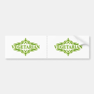 Pretty Vegetarian Design Bumper Sticker