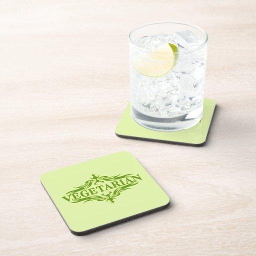 Pretty Vegetarian Design Coaster