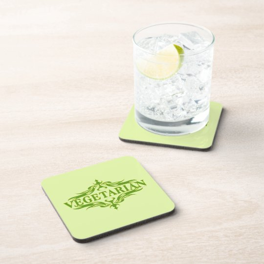Pretty Vegetarian Design Drink Coaster