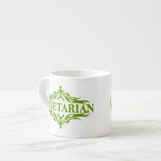 Pretty Vegetarian Design Espresso Cup