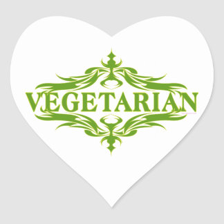 Pretty Vegetarian Design Heart Sticker