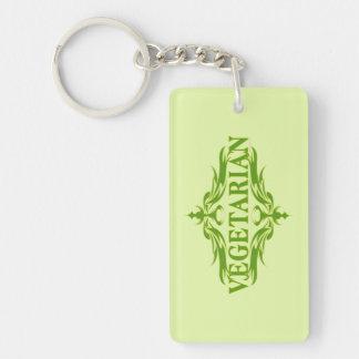Pretty Vegetarian Design Keychain