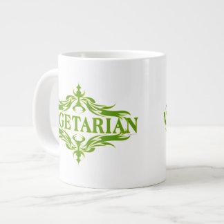 Pretty Vegetarian Design Large Coffee Mug