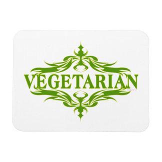Pretty Vegetarian Design Magnet
