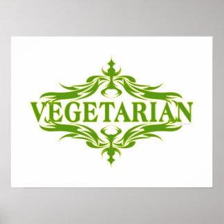 Pretty Vegetarian Design Poster