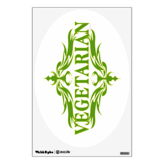 Pretty Vegetarian Design Wall Sticker