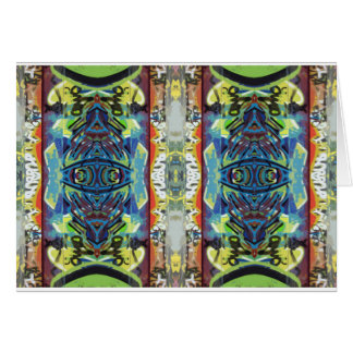 pretty vertical double greeting card