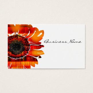 Pretty Vibrant Fiery Sunflower Business Card