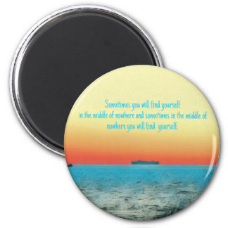 Pretty Vibrant Oceanscape Wisdom Quote Magnet