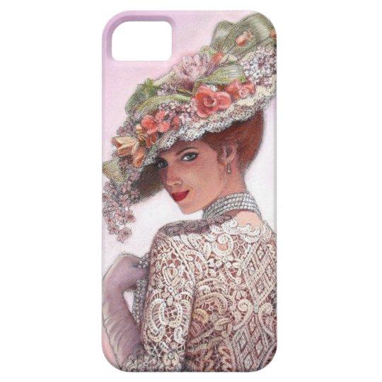 Pretty Victorian Fashion Girl iPhone 5 Case