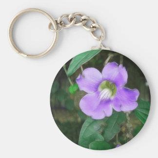 Pretty Vine Flowers 1 Silky Keychain