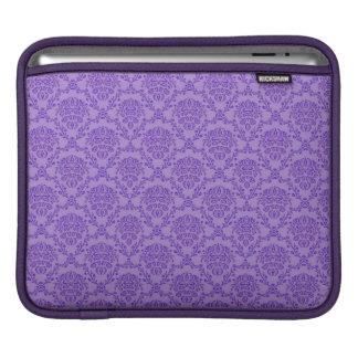 pretty vintage Art Nouveau purple wallpaper floral Sleeves For iPads